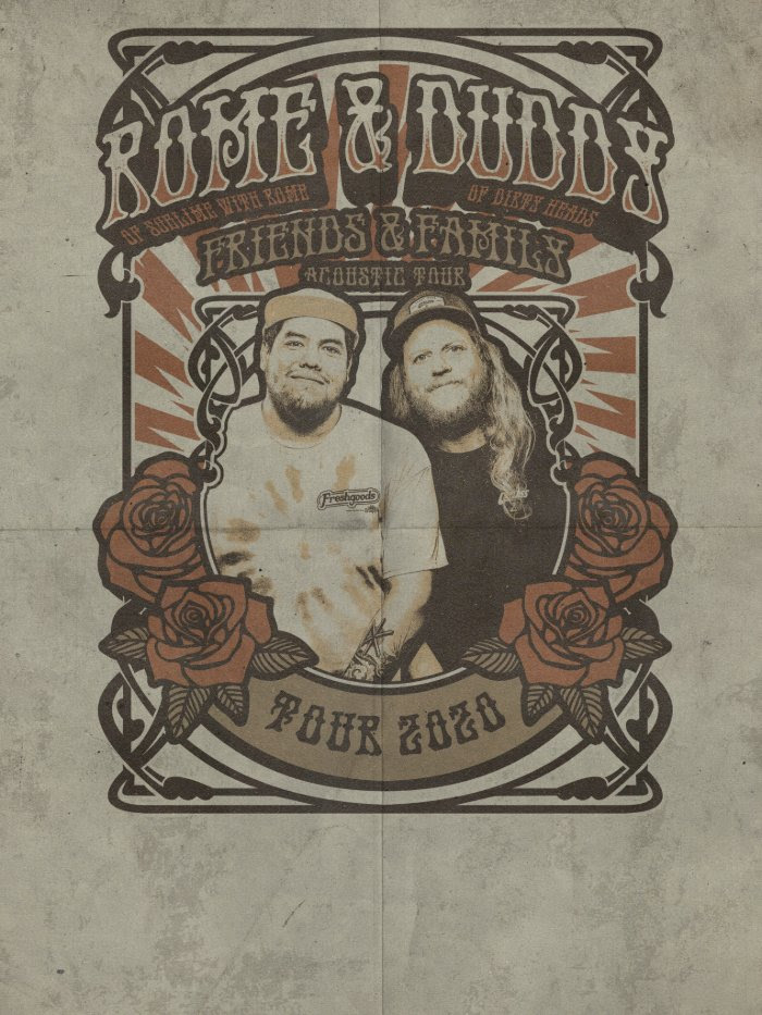 Image for CANCELLED ~ ROME & DUDDY - FRIENDS & FAMILY ACOUSTIC TOUR